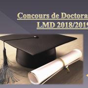 Concours de Doctorat LMD 2018/2019